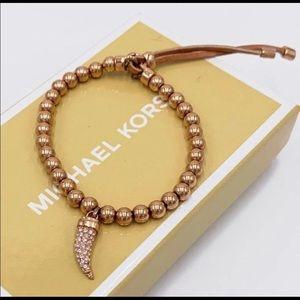 Michael Kors Beaded Horn Bracelet NEW